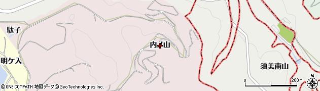 愛知県西尾市吉良町駮馬(内ノ山)周辺の地図