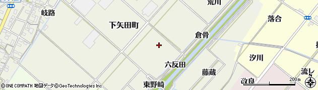 愛知県西尾市下矢田町(川西)周辺の地図