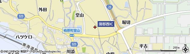 愛知県蒲郡市柏原町周辺の地図