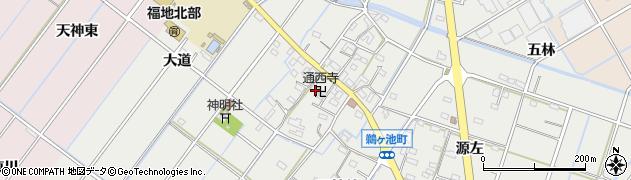 通西寺周辺の地図