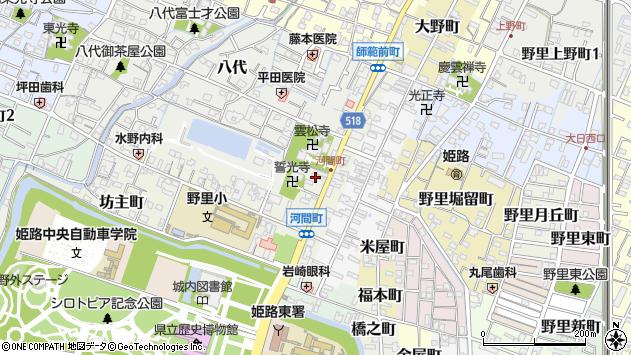 〒670-0001 兵庫県姫路市河間町の地図