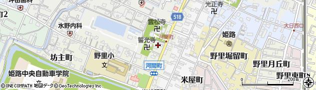 兵庫県姫路市河間町周辺の地図
