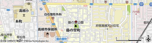 大阪府高槻市藤の里町周辺の地図