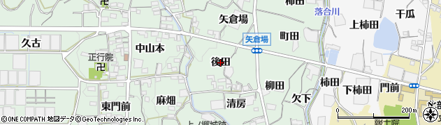愛知県蒲郡市神ノ郷町(後田)周辺の地図
