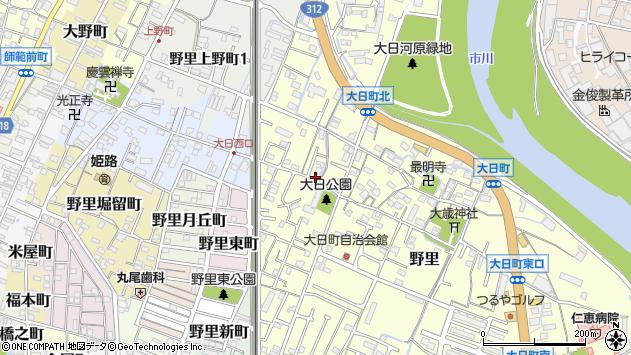〒670-0811 兵庫県姫路市野里の地図