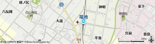 愛知県西尾市川口町(松原)周辺の地図