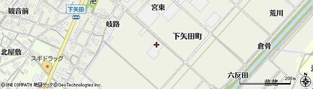 愛知県西尾市下矢田町周辺の地図