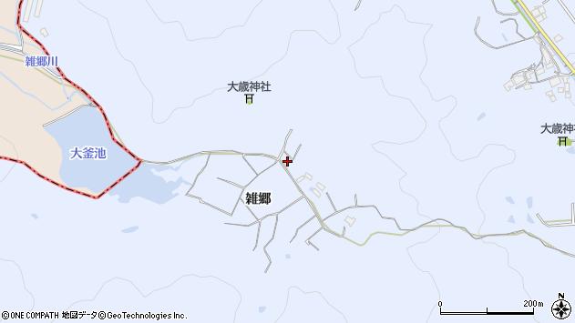 〒675-0342 兵庫県加古川市志方町雑郷の地図