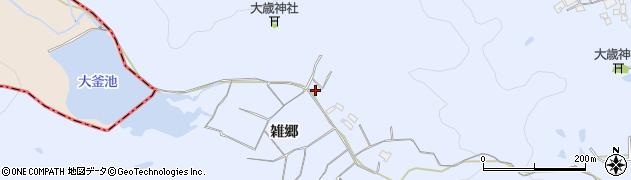 兵庫県加古川市志方町(雑郷)周辺の地図