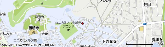 愛知県豊川市八幡町(上六光寺)周辺の地図