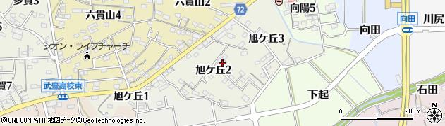 愛知県武豊町(知多郡)旭ケ丘周辺の地図