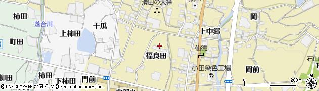 愛知県蒲郡市清田町(福良田)周辺の地図