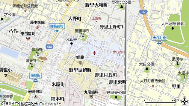 〒670-0813 兵庫県姫路市野里慶雲寺前町の地図
