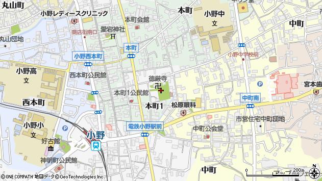 〒675-1373 兵庫県小野市東本町の地図