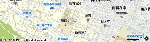 兵庫県姫路市新在家周辺の地図