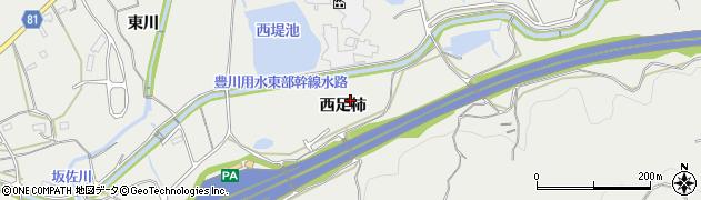 愛知県新城市富岡(西足柿)周辺の地図