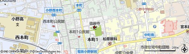 徳岩寺周辺の地図