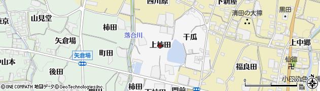 愛知県蒲郡市水竹町(上柿田)周辺の地図