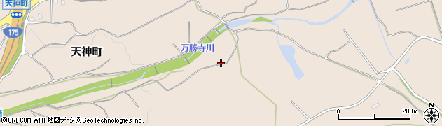 兵庫県小野市天神町周辺の地図