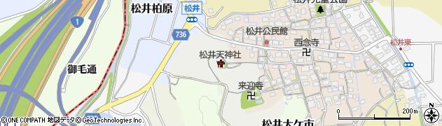 京都府京田辺市松井向山周辺の地図