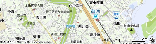 愛知県豊川市御油町(青戸)周辺の地図