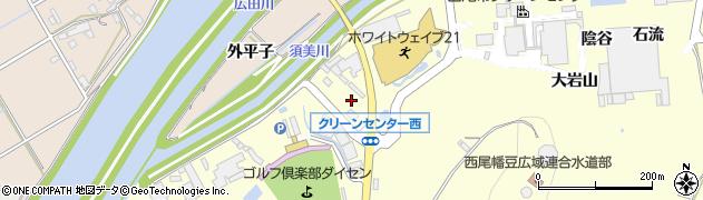 愛知県西尾市吉良町岡山(献上田)周辺の地図