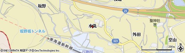 愛知県蒲郡市柏原町(水洗)周辺の地図