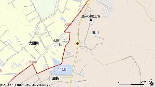 〒673-0723 兵庫県三木市加佐草荷野の地図