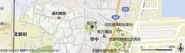 徳正寺周辺の地図