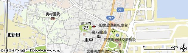 愛知県武豊町(知多郡)里中周辺の地図