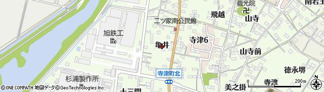 愛知県西尾市寺津町(亀井)周辺の地図