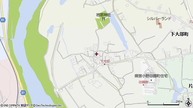 〒675-1336 兵庫県小野市下大部町の地図