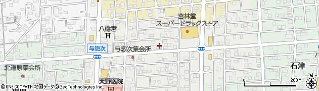 静岡県焼津市与惣次周辺の地図