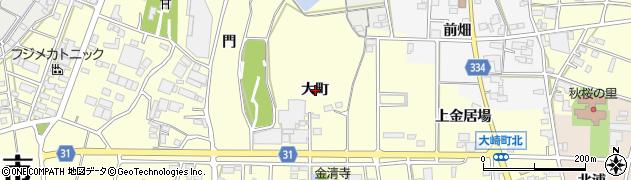 愛知県豊川市大崎町(大町)周辺の地図