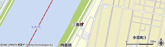 愛知県西尾市西奥田町(三番割)周辺の地図