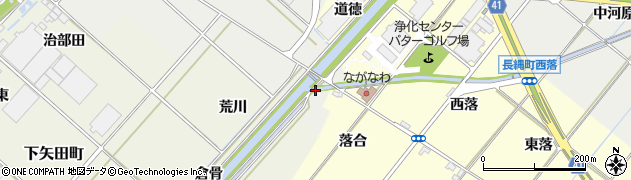 愛知県西尾市上矢田町(下汐川)周辺の地図