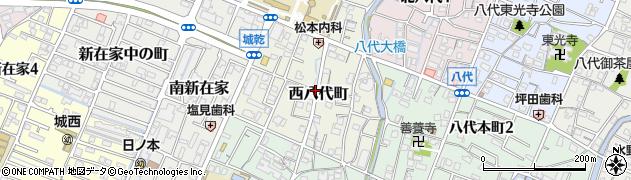 兵庫県姫路市西八代町周辺の地図