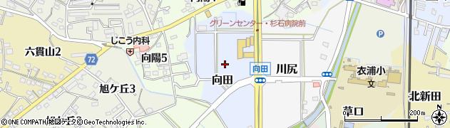 愛知県武豊町(知多郡)向田周辺の地図
