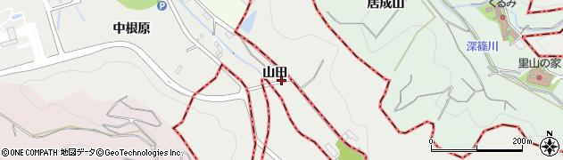 愛知県西尾市善明町(山田)周辺の地図