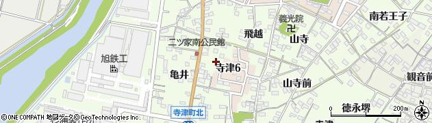 愛知県西尾市寺津町(狐塚)周辺の地図