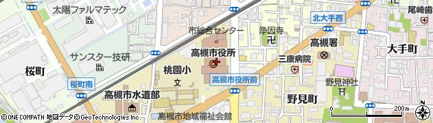 大阪府高槻市周辺の地図