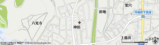 愛知県豊川市平尾町(神田)周辺の地図