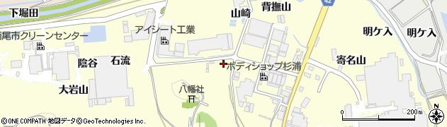 愛知県西尾市吉良町岡山(八幡山)周辺の地図