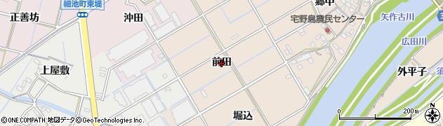 愛知県西尾市宅野島町(前田)周辺の地図