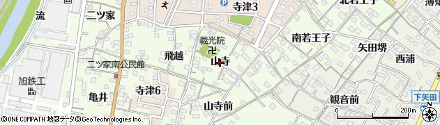 愛知県西尾市寺津町(山寺)周辺の地図