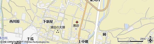 愛知県蒲郡市清田町(下大内)周辺の地図