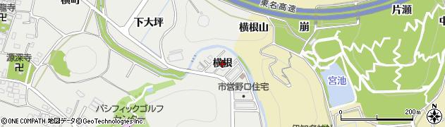 愛知県豊川市野口町(横根)周辺の地図