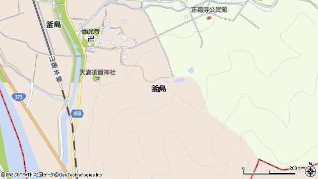 〒678-1223 兵庫県赤穂郡上郡町釜島の地図