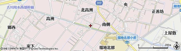 愛知県西尾市細池町周辺の地図