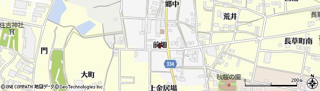 愛知県豊川市六角町(前畑)周辺の地図
